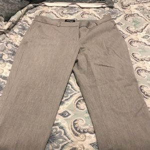 Express columnist mid rise grey ankle pant